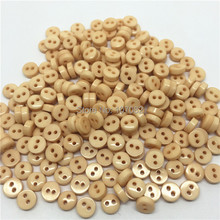 1000pcs/lot Natural Beige 6mm Mini Tiny Buttons Resin Round Sewing Accessories Button Fit Scrapbooking Cardmaking