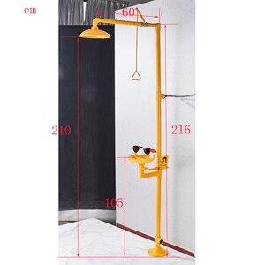 Image 5 - جهاز غسل العين المركب من الفولاذ المقاوم للصدأ 304 Dfrkjhre جهاز غسل عمودي للعين للاستحمام في حالات الطوارئ
