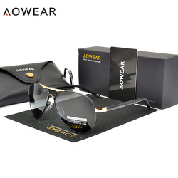 AOWEAR Brand HD Aviation Sunglasses Men Polarized Mirror Polit Sunglass Male Gafas UV400 Driving Glasses Gafas oculos masculino