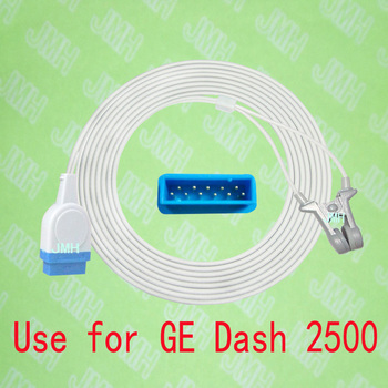 Use with GE Dash 2500 Pulse Oximeter monitor , Child and Adult ear clip spo2 sensor.11PIN,with OXIMAX TECH.