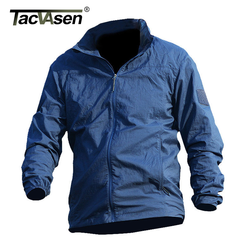 Image 4 - TACVASEN Summer Waterproof Quick Dry Tactical Skin Jacket Men Hooded Raincoat Thin Windbreaker Army Military Jacket TD QZJL 013army military jacketmilitary jacketjacket men -