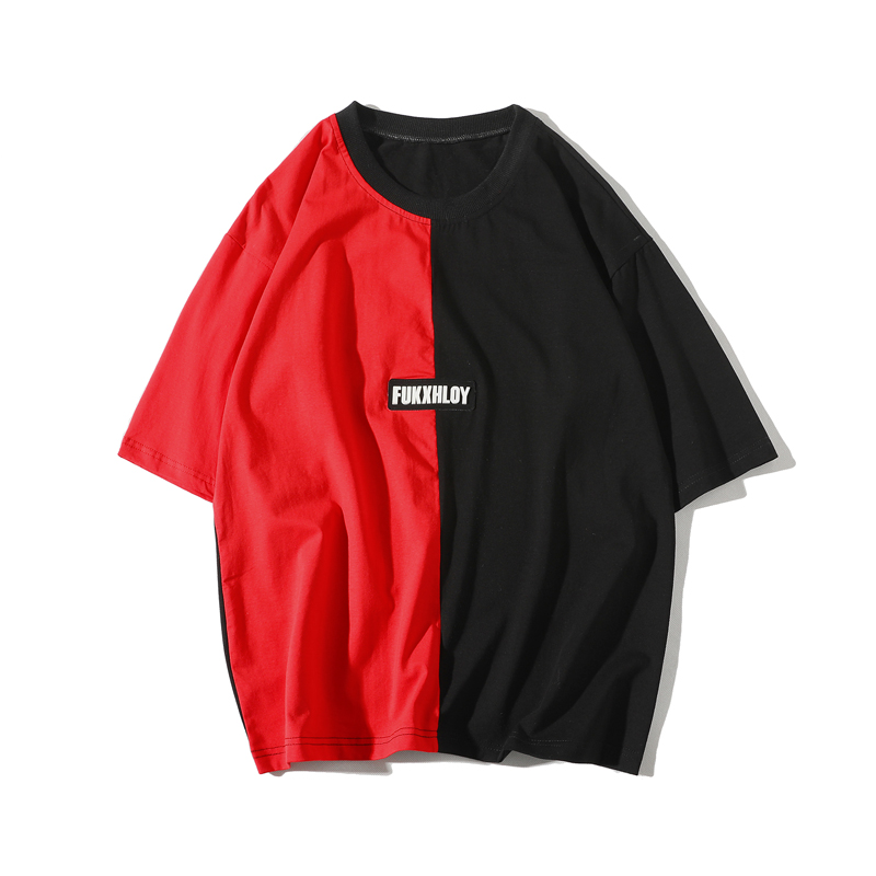 WIPU Brand Trend Summer New Printing Stitching Men 39 s T shirt Classic Baseball Retro black and red Short Sleeved Tshirt in T Shirts from Men 39 s Clothing