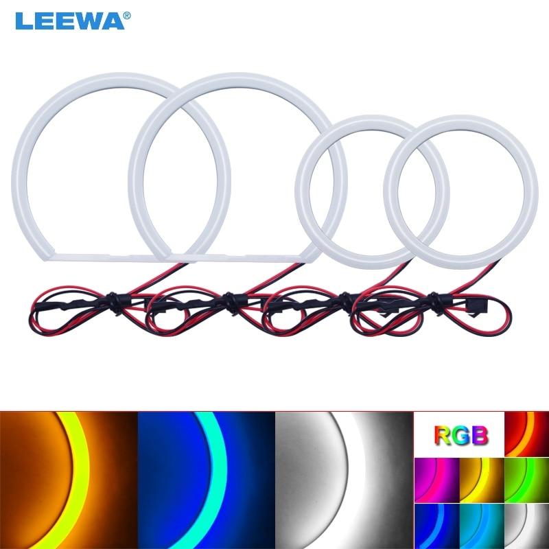 LEEWA 2X90mm 2X131mm Car Auto Halo Rings Cotton Lights SMD LED Angel Eyes for Hyundai Elantra/Elantra Car Styling White #CA3235 цена