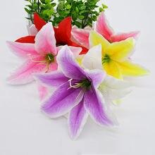 10 шт/лот 18 см Шелковая Лилия искусственный цветок головка