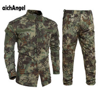 US Army Military Uniform Rattlesnake Camo Shooter Jacket Mens Python Grain Tactical Sets Man Jacket and Pants