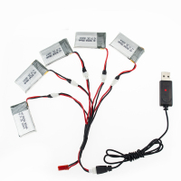 3 7V 850mAh 25C Drone Li Polymer Battery 902540 USB Charger Set For RC SYMA X5C