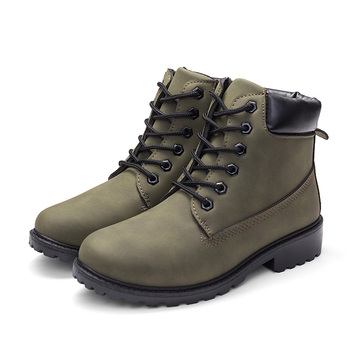 2020 Hot New Autumn Early Winter Shoes Women Flat Heel Boots Fashion Keep warm Women's Boots Brand Woman Ankle Botas Camouflage - green No Plush, 36