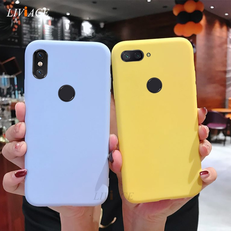 silicone case on for <font><b>xiaomi</b></font> redmi note 6 pro 7 5 5a prime s2 <font><b>mi</b></font> 8 9 se mi8 a2 lite <font><b>a3</b></font> cute candy color soft tpu back <font><b>cover</b></font> image