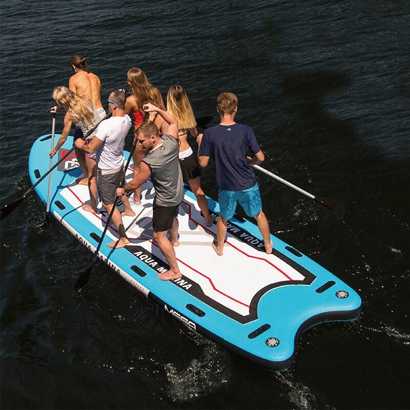 Aqua Marina MEGA 550*152*20 cm Grande Formato Gonfiabile SUP Stand Up Paddle Bordo Tavola Da Surf Gonfiabile Barca con la Macchina Fotografica Mount A01014
