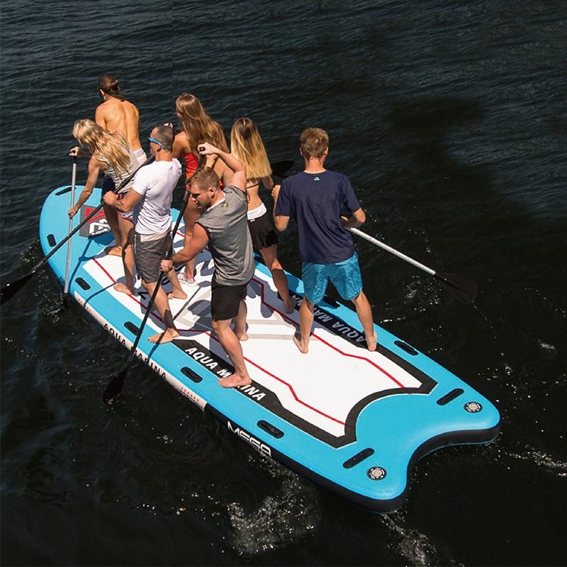 Aqua Marina MEGA 550*152*20 cm Grande Taille Gonflable SUP Stand Up Paddle Board Planche De Surf Gonflable Bateau avec Caméra Montage A01014