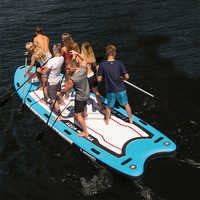 Aqua Marina MEGA 550*152*20cm Big Size Inflatable SUP Stand Up Paddle Board Surfboard Inflatable Boat With Camera Mount A01014