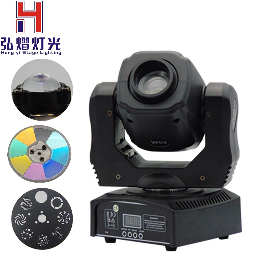 (1 pieces/lot) 60W moving head led spot 1*60W White Color zhen li LEDs moving led Color/Gobo Wheel Built In DMX 9/11 CH discount price 2 pack 200w led moving head spot wash 2in1 light 75w white 9 12w rgbwa purple leds mini rotate gobo color wheel