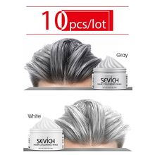 Sevich Harajuku Style Styling Products 10pcs Hair Color Wax Dye One-time Molding Paste 8 Colors Hair Dye Wax maquillaje Make up