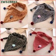 YWSZBBST г.; весенние треугольные шарфы для маленьких девочек; Осенняя теплая одежда для девочек с цветочным принтом и рисунком рыбы; одежда с воротником для маленьких мальчиков; шарф для малышей