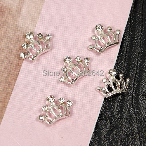 A8 Free shipping 9mm*7mm crown alloy nail accessories 10pcs/lot 3d diy crown - Online Buy Wholesale Crown Nail Design From China Crown Nail