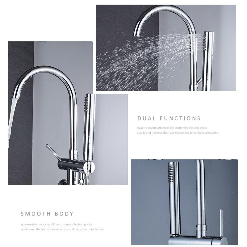 quyanre wanfan frap thermostatic bathtub shower chrome floor standing faucet dual handles thermostatic mixer tap bathroom shower faucets2