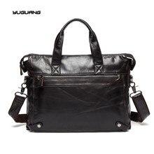 Leather Men's bags, leisure business documents, Baotou leather shoes, shoulder bags, men's handbags , cross section of the tide