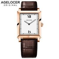 Швейцарские часы для женщин Топ Роскошные Agelocer Брендовая женская одежда часы световой время ультра тонкие часы для 6,2 мм relogio feminino