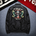 European and American Ma1 Air Bomber Jacket Mens Military Pilot Air Force Casual Retro Embroidery Dragon  Baseball Jacket Men