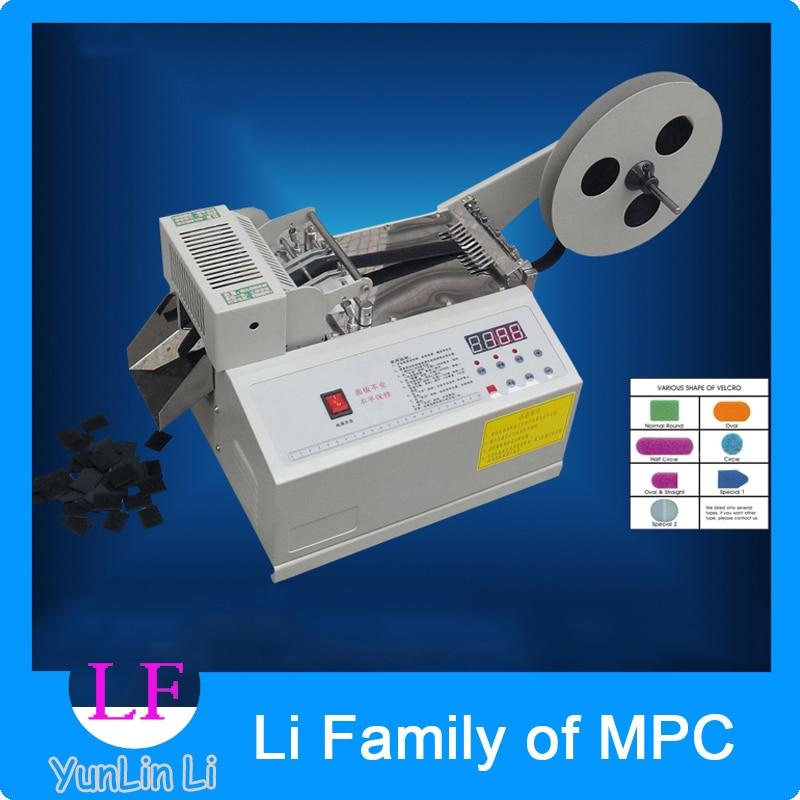 Automatic computer control weaving belt cutting machine Fillet/Chamfer magic tape , zipper, cutting machine