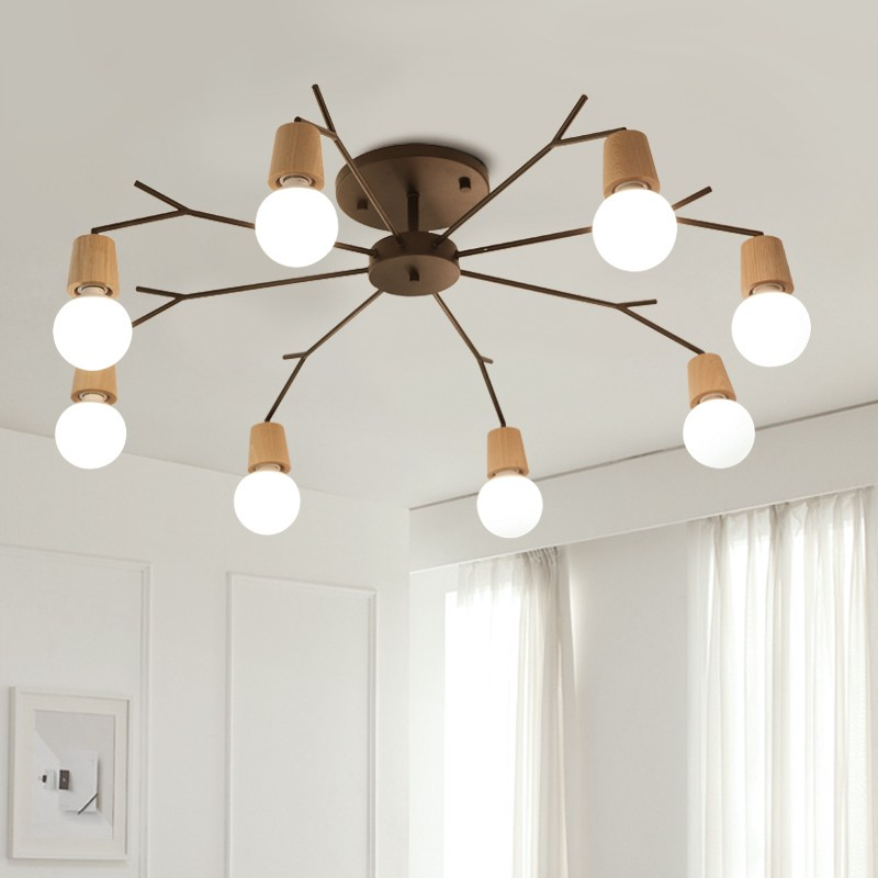 Nordic Wooden Modern LED ceiling Light For home Living Room Bedroom Ceiling Lamp Luminaire Lampara Techo