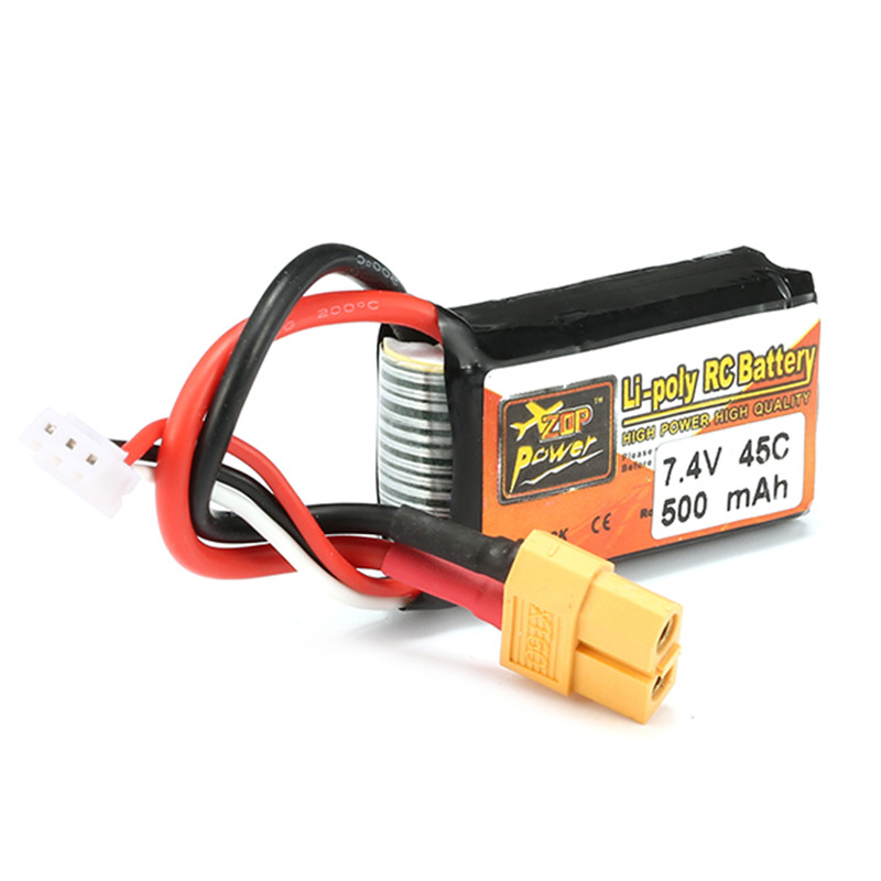 New Arrival Reachargeable Lipo Battery ZOP Power 7.4V 500mAh 45C 2S Lipo Battery XT60 Plug 7 4v 500mah 50c lipo battery