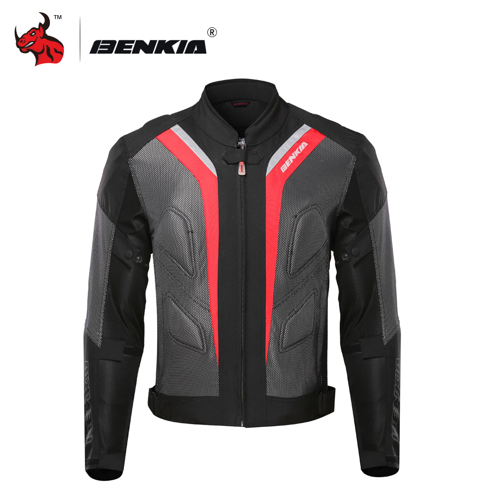 BENKIA Motorcycle Jackets Body Armor Protective Moto Jacket Motorbike Windproof Jaqueta Clothing Motorbike Motocross Jacket genuine air flow meter 0281006043 for ssangyong 6710940048 a6710940048