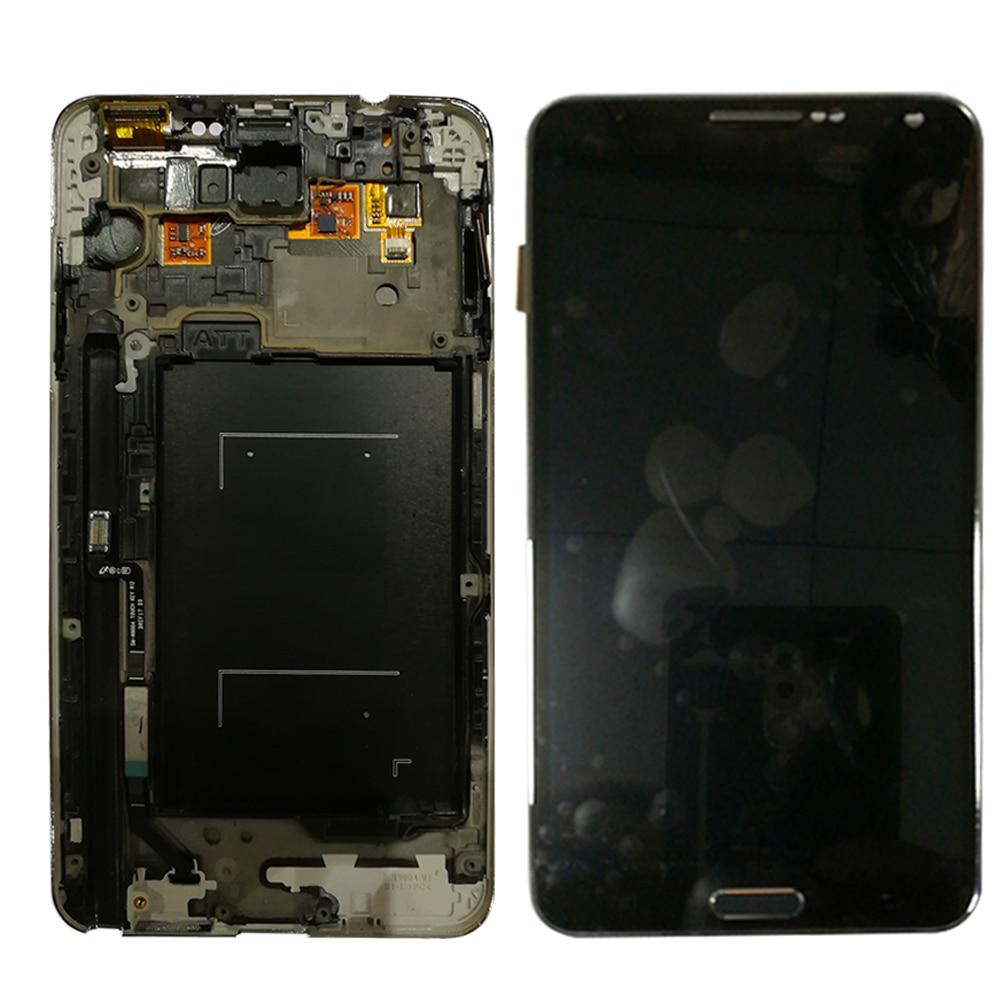 SzHAIyu 輝度調整可能な Lcd ディスプレイとフレーム三星銀河注 3 N900A N900T N900 N900Q 画面とフレーム  グループ上の 携帯電話 & 電気通信 からの 携帯電話用液晶ディスプレイ の中 1