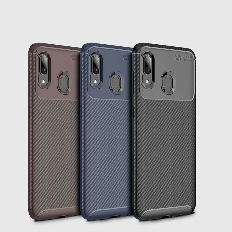 For Samsung Galaxy A30 A20 A10 Case Soft Silicone Carbon Fiber Shockproof Skin Protect Back Cover Case For Samsung A10 20 30