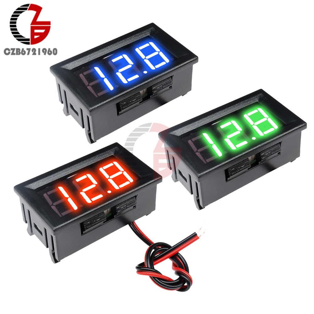 جهاز كشف التيار المستمر 5 فولت 12 فولت 24 فولت 0.56 بوصة LCD مقياس الجهد الرقمي الفولتميتر مقياس قدرة البطارية للكشف عن بنك الطاقة المحمول الإلكتروني