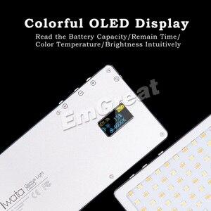 Image 2 - Iwata Ultra Dunne Pocket Telefoon Led Video Licht Bi Kleur CRI96 + voor iPhone XS X Op Camera canon PK Aputure Fotografische Verlichting