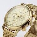 Top Marca Julius Homens Esportes Relógios Caixa de Aço Inoxidável Rosa de Ouro Movimento Japão Seis-pin Homens de Quartzo Business Casual relógio de pulso