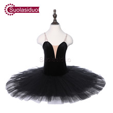 Girls Black Professional Ballet Tutu Apperal The Nutcracker Performance Competition Ballet Dance Costumes Kids Ballet Skirt недорого