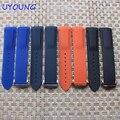 Qualidade suave silicone pulseira 20mm 22mm com fivela de cinta faixas de relógio de substituição de silicone para omega