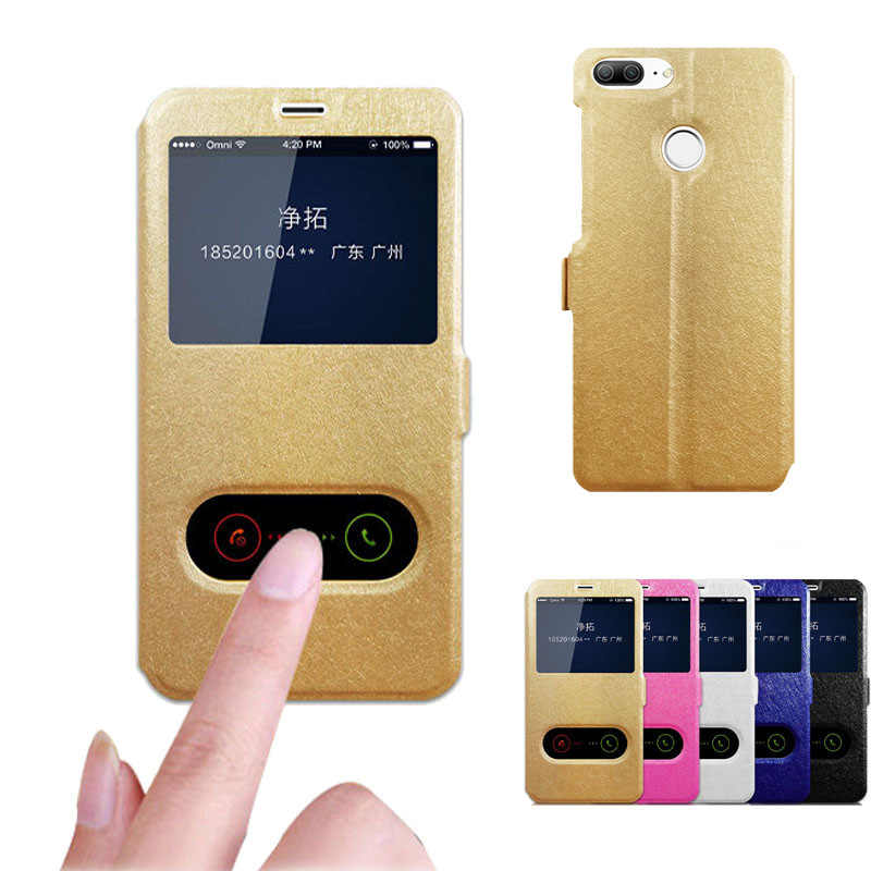 PU Leather Flip Case for Huawei Y6 II Mate 9 Lite Y7 Y9 Prime 2018 Honor 4 4C 4X 5X 5C 6A 7i 7A pro V8 V9 V10 View Window Cover