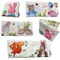 Lindo libro de paño del bebé noche de conejo bebé educativos toys animal conejo gato ardilla pato sonajero infantil toys