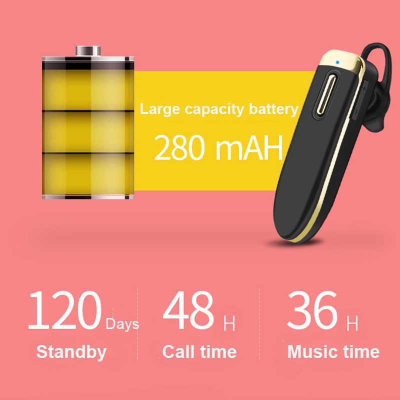 TEBAURRY YA-06 długi czas czuwania Bluetooth słuchawki 280mAh bateria słuchawki bezprzewodowe z mikrofonem 32 godziny czasu pracy zestaw słuchawkowy dla kierowcy