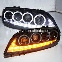 For MAZDA 6 LED Head Lamp Angel Eyes 2004 to 11 V3 Type