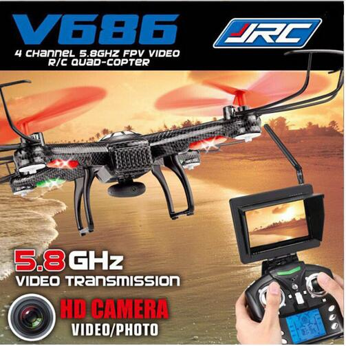 WIFI FPV Professional RC Drones V686  With Camera 2.4G 6-Axis Gyro RC Quadcopters Remote Control Flying   Helicopter rc toy gift jxd 510g 5 8g rc quadcopters fpv 2 0mp camera 2 4ghz 4ch 6 axis gyro rc quadcopter barometer set height rc drones