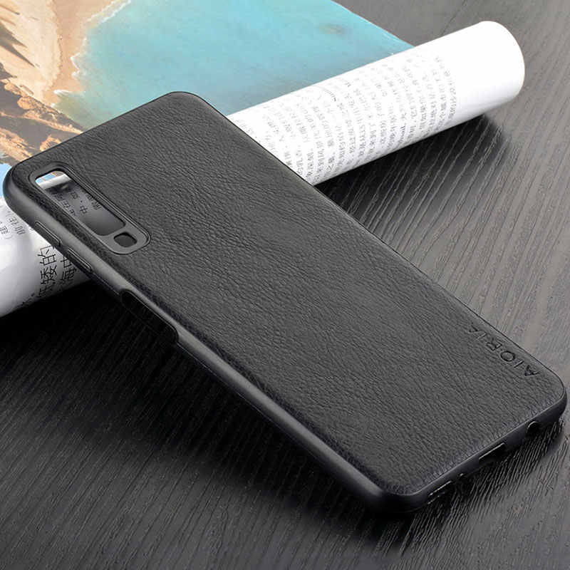 case for samsung galaxy a7 2018 a750 coque luxury Vintage Leather skin capa with Slot cover for samsung a7 2018 case funda capa