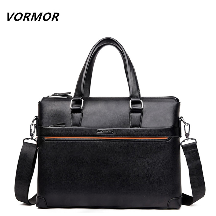 Free Shipping 2019 New Fashion PU Leather Bags for Men Famous Brand Men's Shoulder Bag Leather Messenger Bag Briefcase