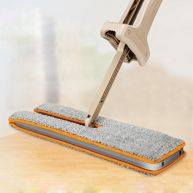 Split Spray Floor Mop: Wash Free Double Side Flat Mop Wood Floor Hands Free