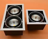 Square LED Spot Light COB Light 30w 15w LED Recessed Ceiling Light Lamp Single/Double Head LED Grille Spot Light luminair