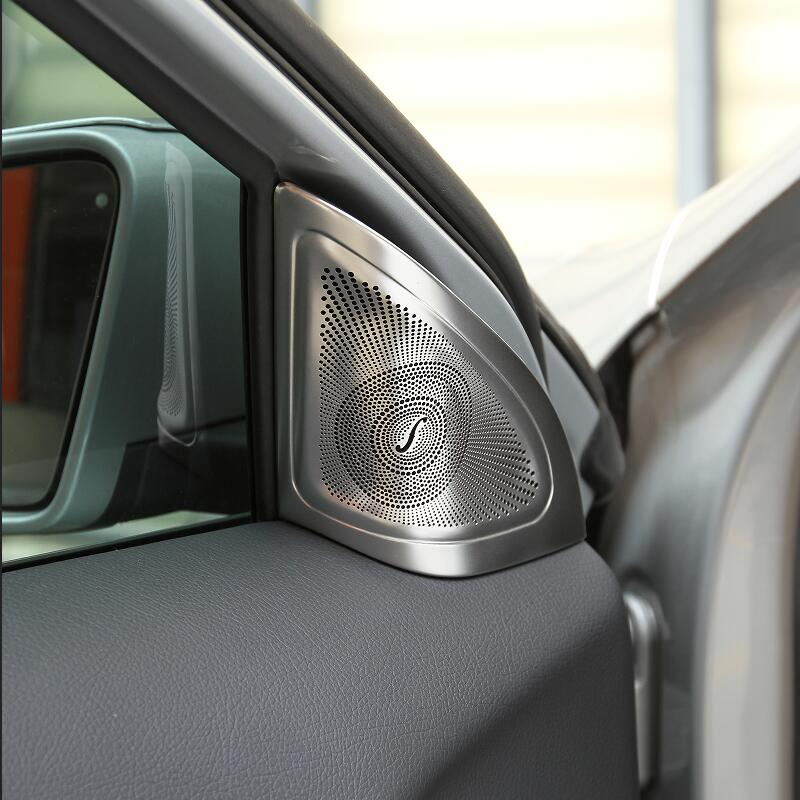 Para Mercedes Benz GLA X156 Tampa Do Orador Buzina Do Carro de Áudio Do Carro Estilo Do Carro Adesivo Sivler Guarnição Interior Do Carro Acessórios de Decoração