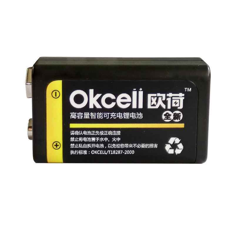 High Quality OKcell 9V 800 mAh USB Rechargeable Lipo Battery for RC Helicopter Model Microphone For RC Helicopter Part