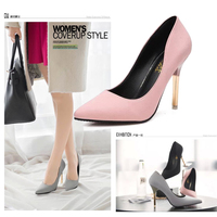 2015 Elegant Ol Single Shoes Shallow Mouth Pointed Toe High Heeled Shoes Thin Heels Sexy Pink