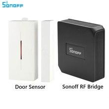 Ewelink Sonoff RF мост Wifi Беспроводной преобразователь сигнала 433 МГц Дверной/оконный датчик сигнализации умный дом автоматизация работа с Alexa