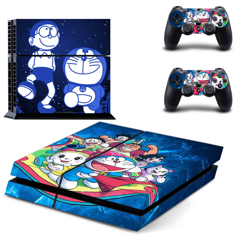 for PlayStation4 stickers Doraemon Totoro Kumamoto Bear Anime Cartoon Series Stickers Console 2 Controllers Stickers Decal Vinyl