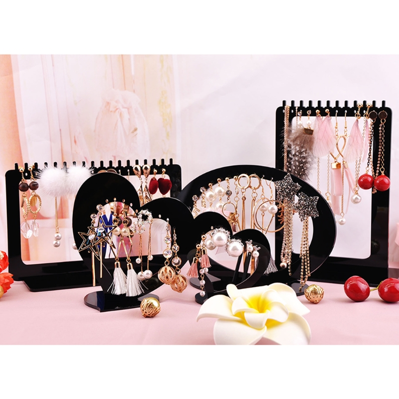 Jewelry Display Rack Acrylic Rectangle Earrings Organizer Holder Stand Storage in Jewelry Packaging Display from Jewelry Accessories