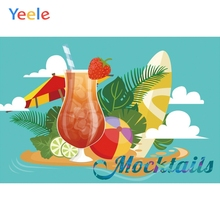 Yeele Summer Mocktails Party Wine Pool Seascape Photography Backdrops Personalized Photographic Backgrounds For Photo Studio